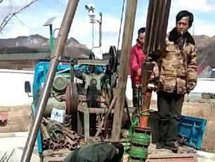 茅荆坝高速服务区深井泵打捞成功